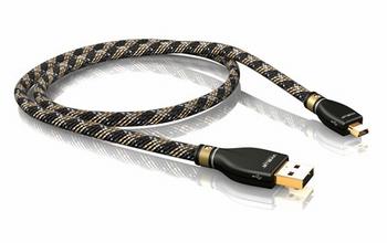KR-2 Silver USB-Kabel 2.0 A/MINI-B  1000 CM