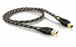 KR-2 Silver USB-Kabel 2.0 A/B  100 CM